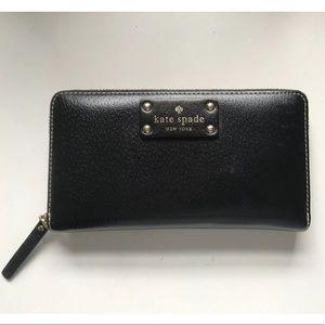 Kate Spade Leather Zip Around Clutch Wallet